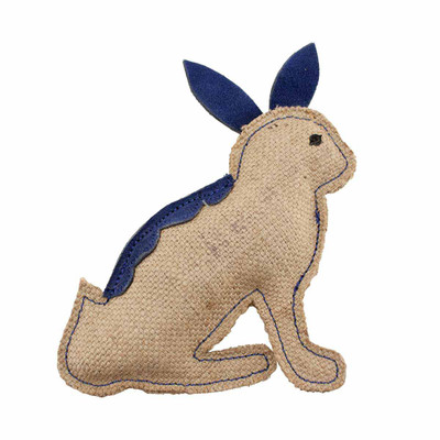 Blue Rabbit Dawgeee Play Flat Suede & Canvas Dog Toy