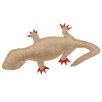 Coral Lizard Dawgeee Play Flat Suede & Canvas Dog Toy