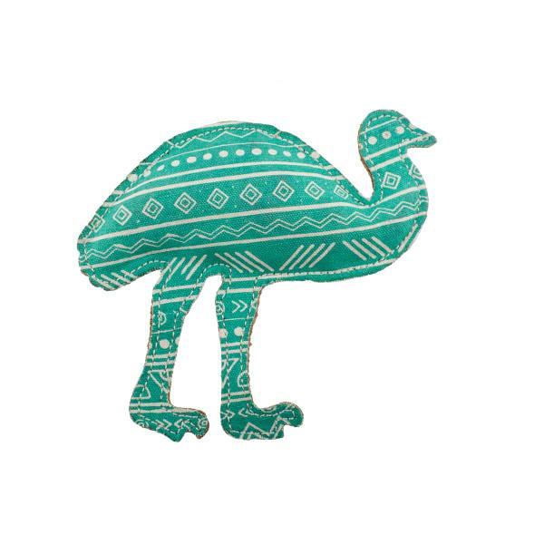 Dawgee Play Printed Canvas Mint Emu 7 inch Dog Toy