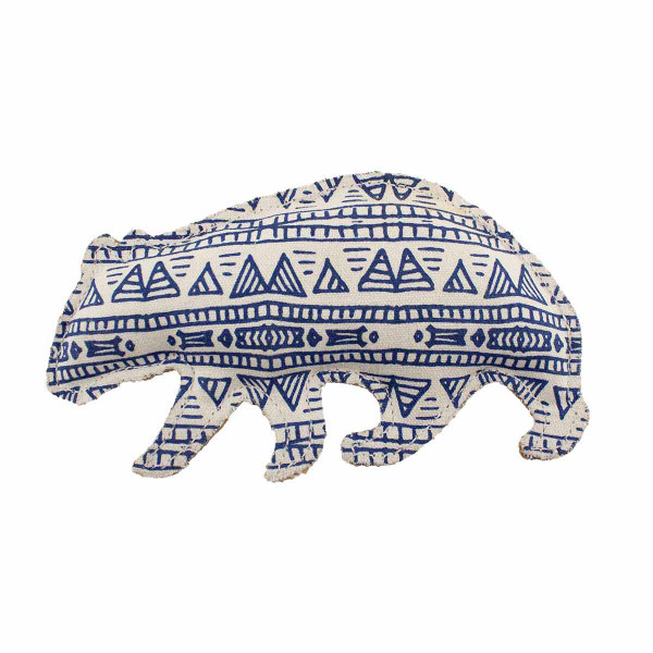 Dawgee Play Printed Canvas Blue Wombat Dog Toy
