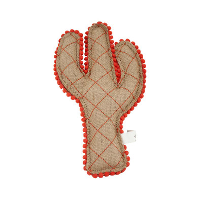 Dawgee Play Quilted Canvas Coral Cactus Dog Toy