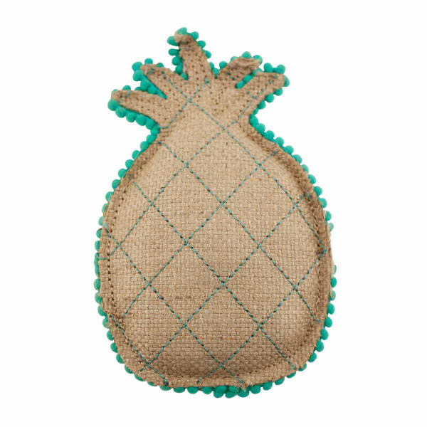 Dawgee Play Quilted Canvas Mint Pineapple Dog Toy