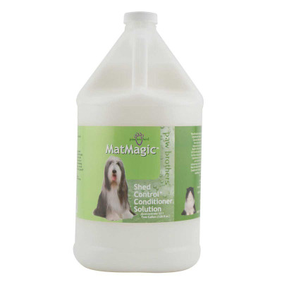 Paw Brothers MatMagic Shed Control Conditioner for Dogs - Concentrated 32:1 Gallon