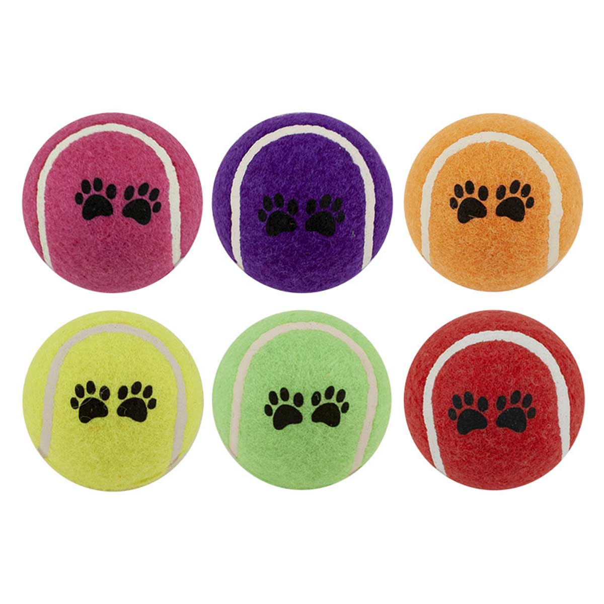 Tennis Ball for Dogs - 2.5 inch Assorted Pastel