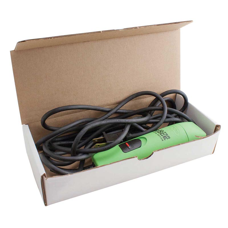Inside of Reusable Shear and Clipper Shipping Box - Ship your Shears to Ryan's Repair Shop
