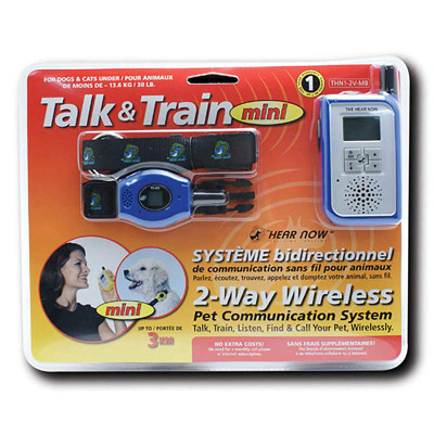 Hear Now Talk & Train Mini 2 Way Wireless Pet Communication System - Pets Up To 30 Lbs