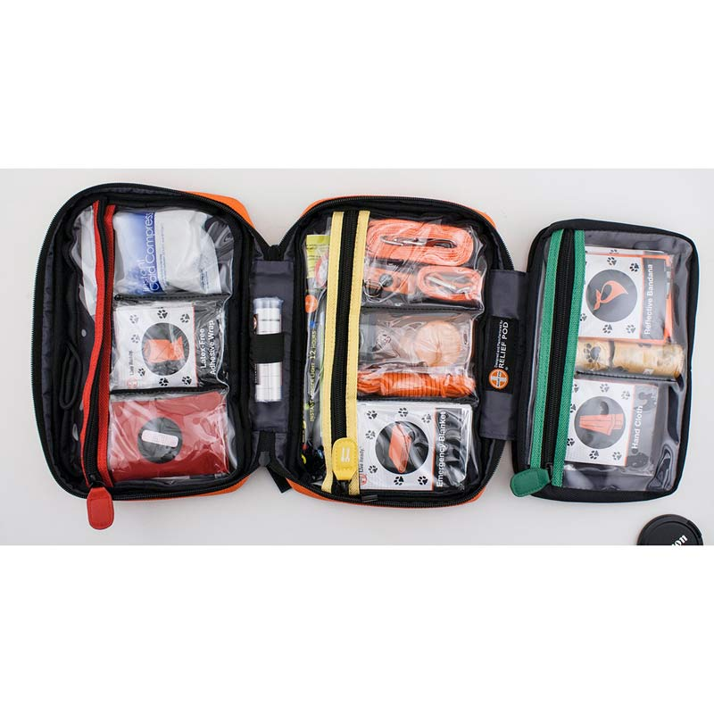 Relief Pod Dog Safety & Care Kit Color Coded Sections Keep Items Organized
