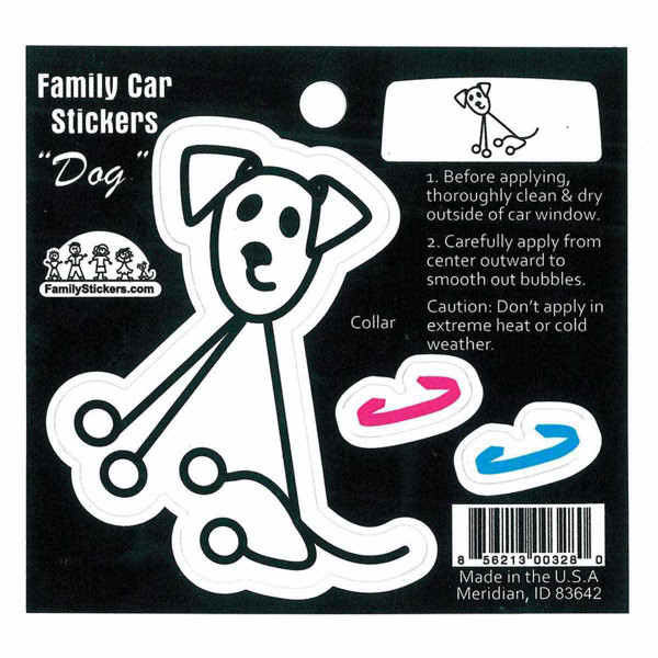 Family Car Stickers Window Dog Decal