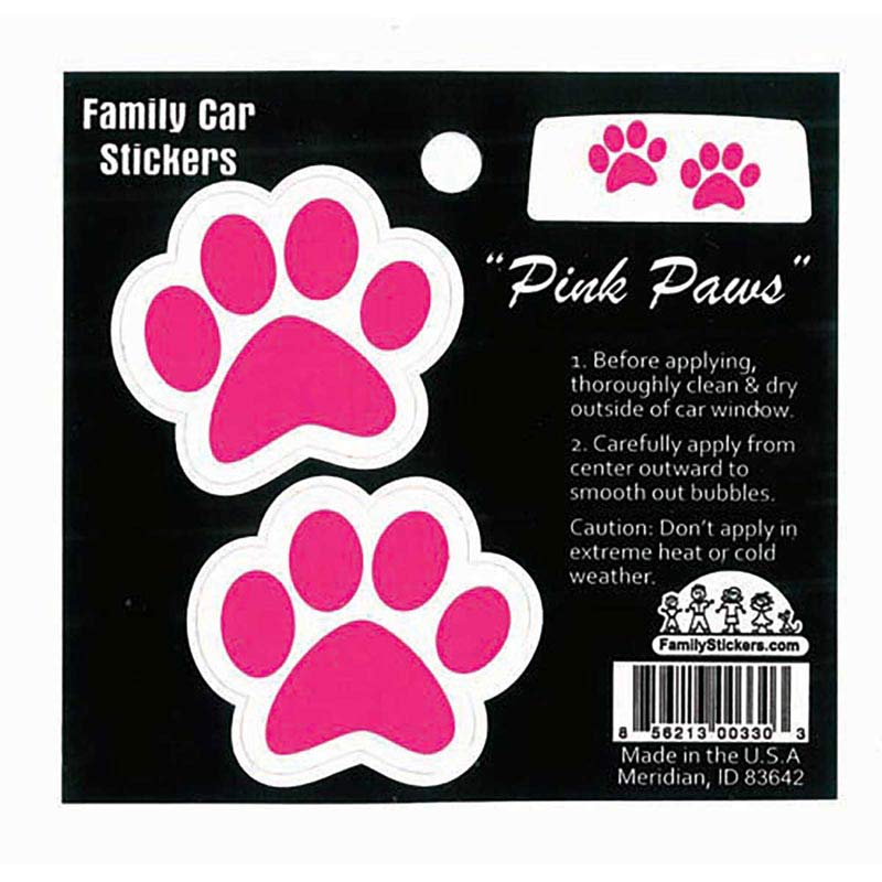 Window Pink Paws Decal for Car