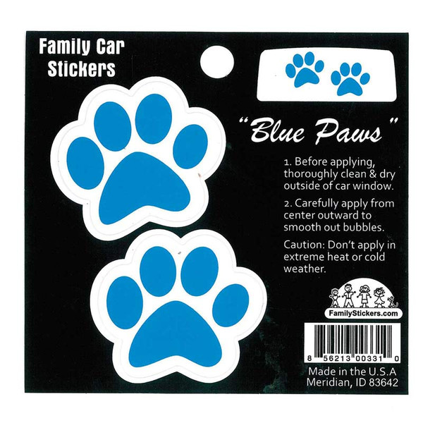 Window Blue Paws Decal