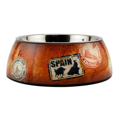 Medium Traveler Milano Dog Bowl