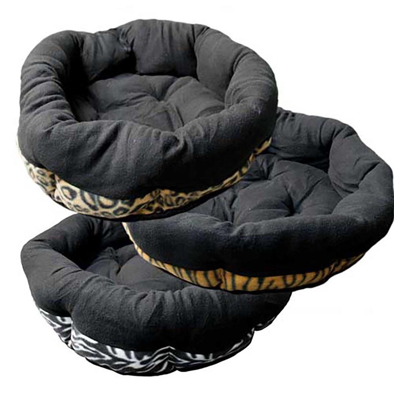 Ultra Plush Animal Print Cuddle Bed 22 inches - Assorted Styles