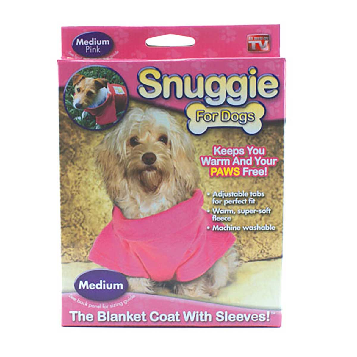 Pink Snuggie XS for Dogs 5-7 Lbs