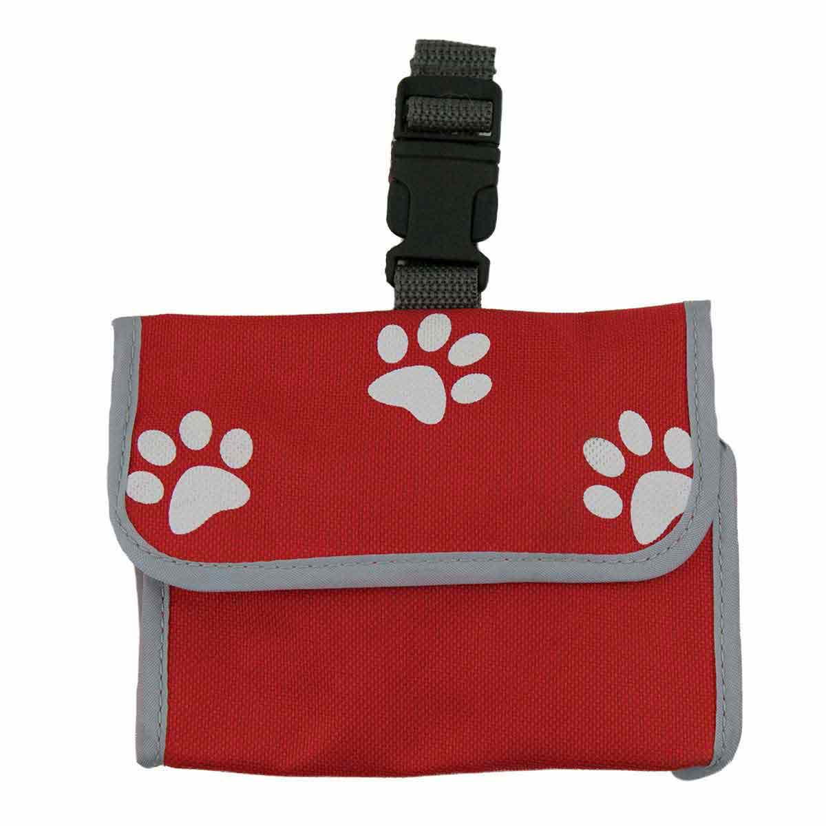 Red Poopak Dog Bag Dispenser With 20 Bag Roll