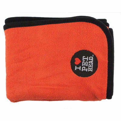 Pet Head Dry as A Bone Microfiber Towel Red 40 inch by 24 inch