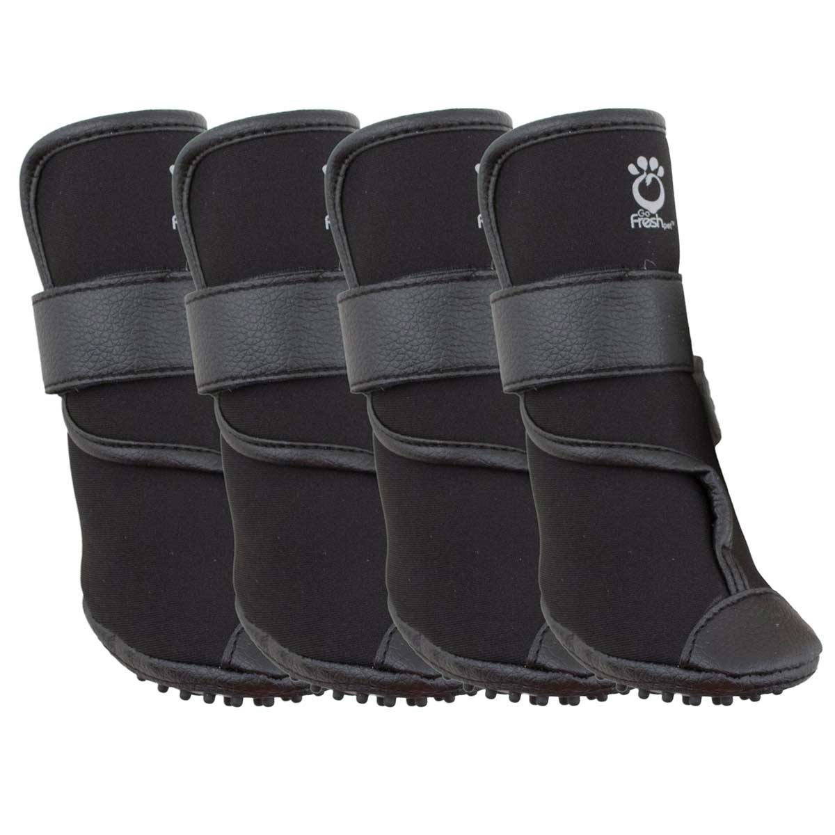 Booteez Heavy-Duty Black Dog Boots X-Large