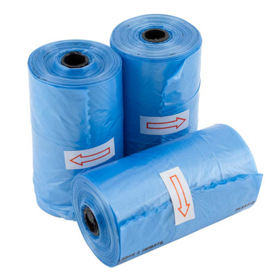 500 Count Wholesale Blue Poop Bags for Dogs