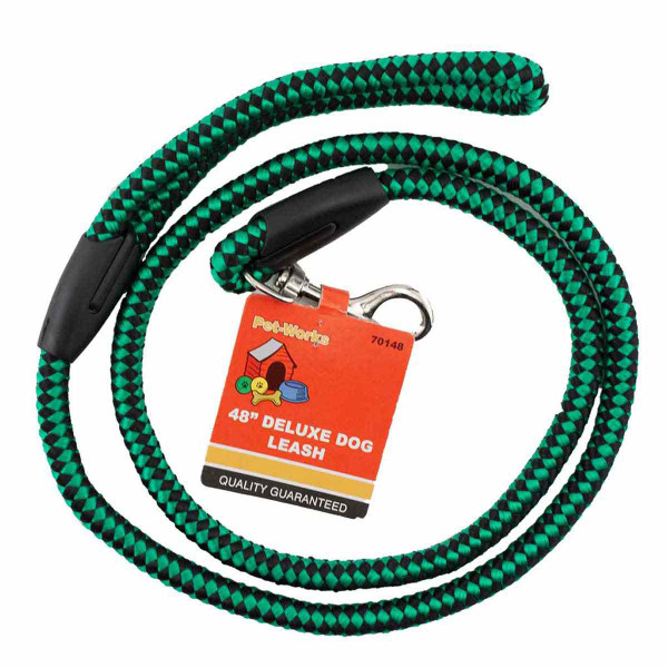 Green 48 inch Deluxe Rope Leash for Dogs