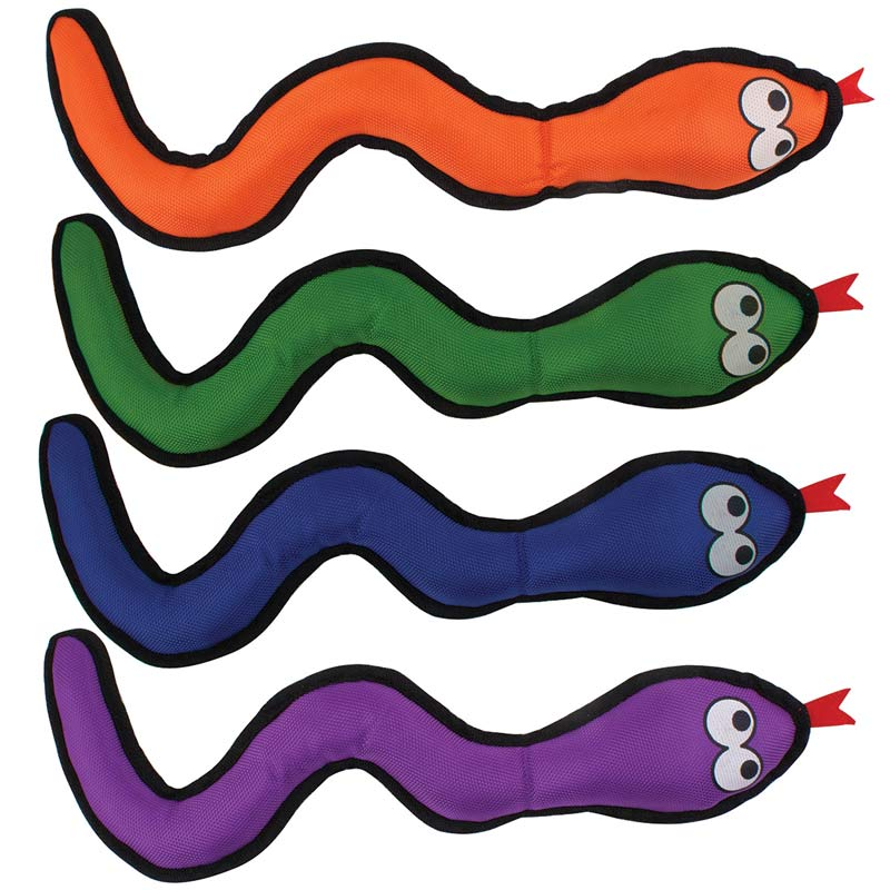 Ruff & Tuff Paw Snake Toy Assorted Colors 15 inches