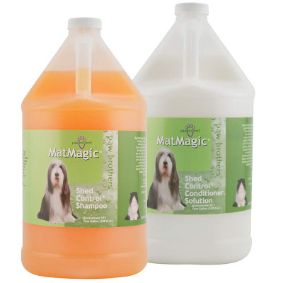 Paw Brothers MatMagic Shampoo and Conditioner for Dogs - Gallon Kit