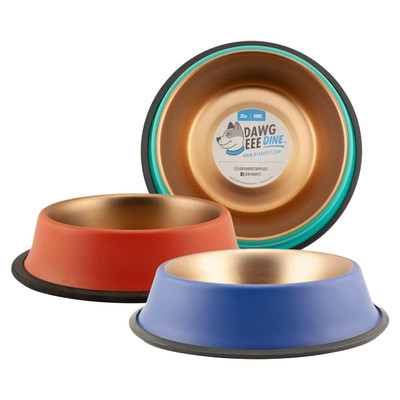 Dawgeee Dine Non-Skid Pet Bowls