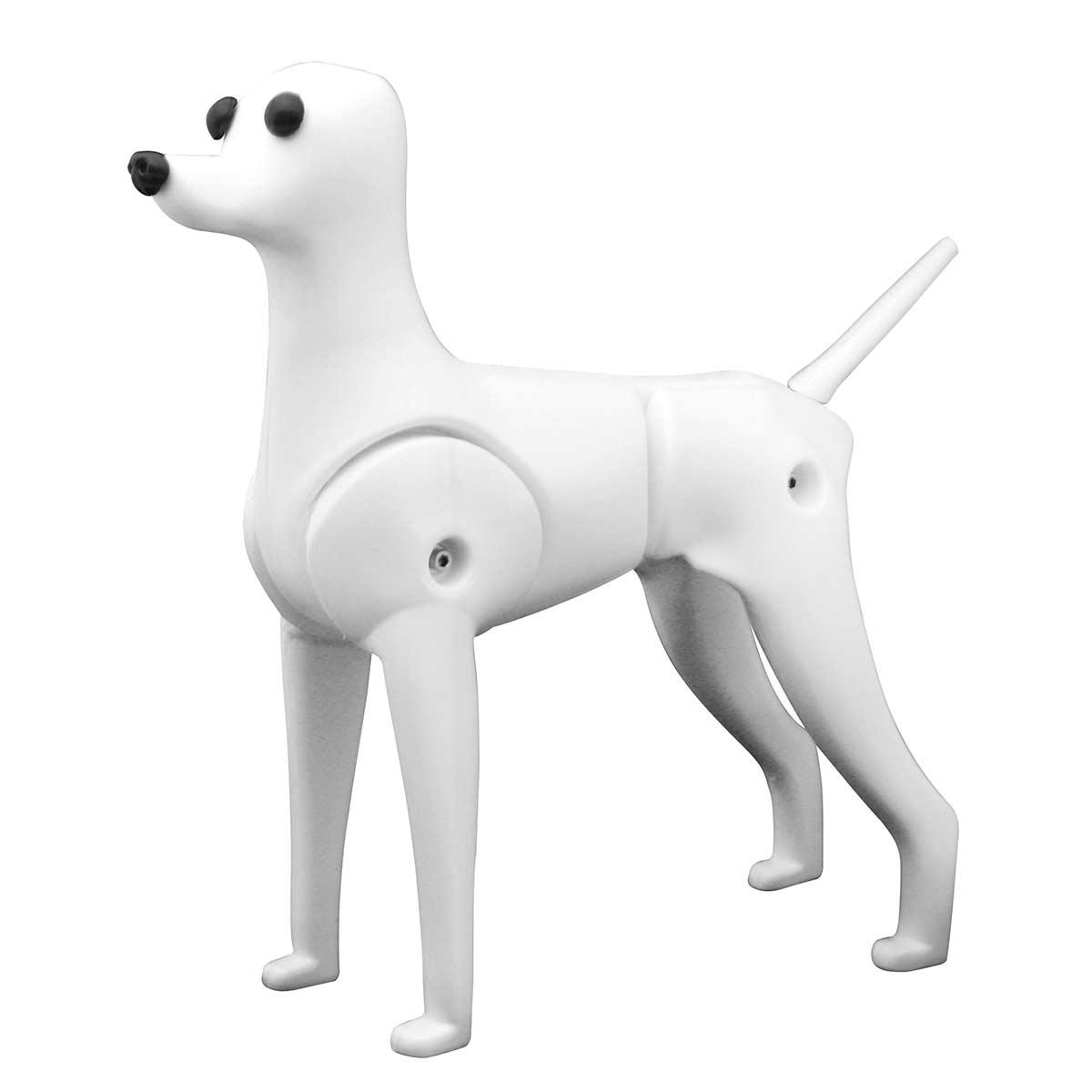 Left side of Groomers Toy Poodle Mannequin Model Dog