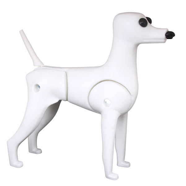 Right side of Groomers Toy Poodle Mannequin Model Dog