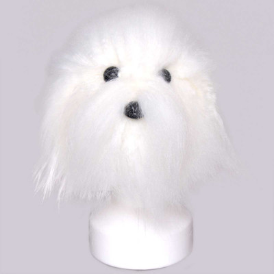 Brushed out White Groomers Model Dog Hair