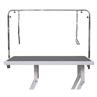 Paw Brothers Professional Full Overhead Arm Stainless Steel with 2-Loops for Grooming Table