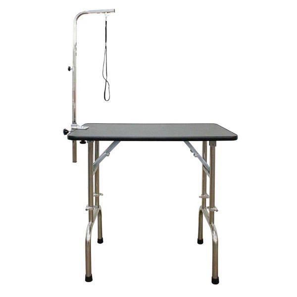Paw Brothers Professional 36 inch Folding Grooming Table with Adjustable Legs & Arm