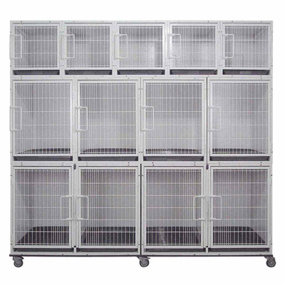 Paw Brothers Professional Modular Cage Bank Fully-Loaded With Grates & Pans