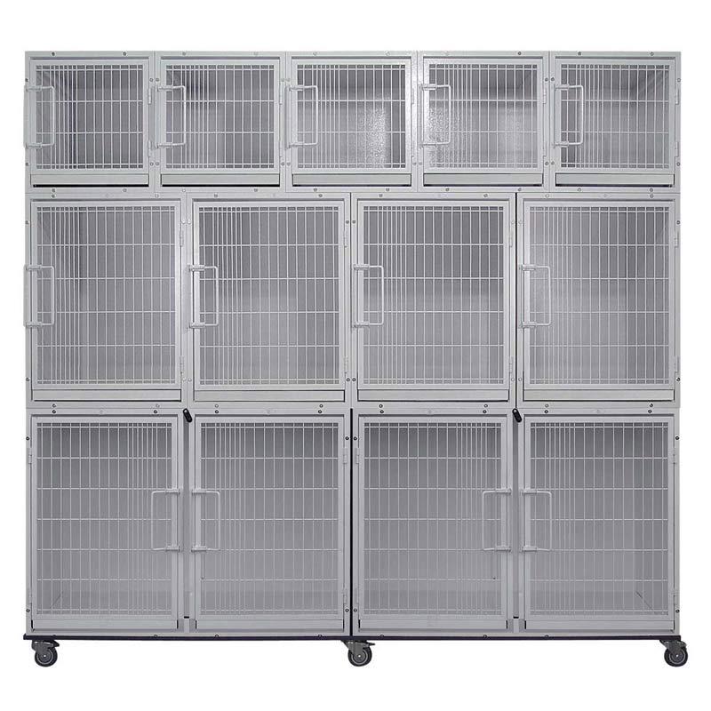 Paw Brothers Professional Modular Cage Bank Without Grates & Pans