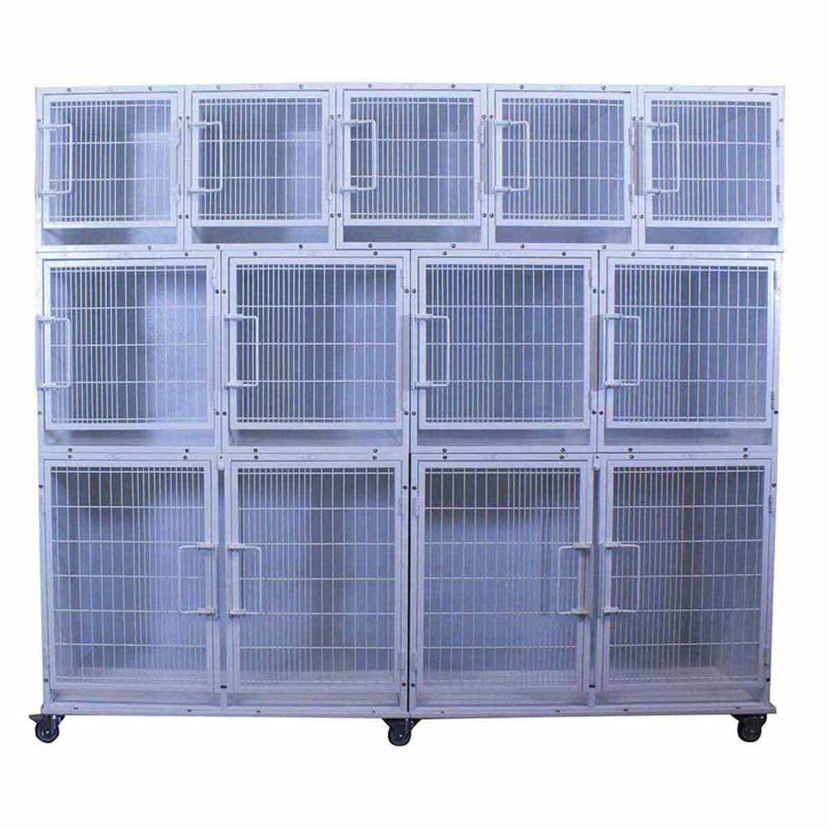 Paw Brothers Professional Modular Cage Bank & Full Frame without Grates, Pans