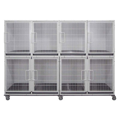 Paw Brothers Professional Short Modular Cage Bank Complete with 8 cages
