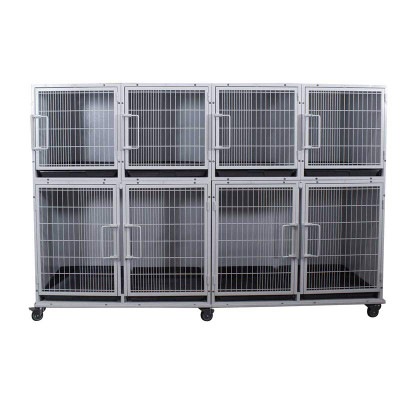 Paw Brothers Professional Short Modular Cage Bank Complete With Medium-Short Cages
