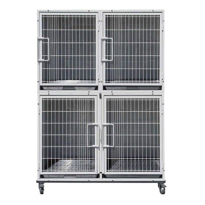 Paw Brothers Professional Half Bank 4 Modular Cages - Complete