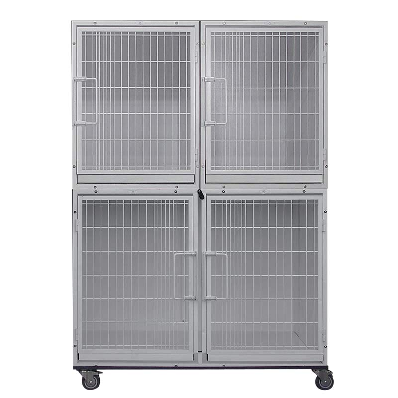 Paw Brothers Professional Modular Cage Half Bank Includes 4 Cages