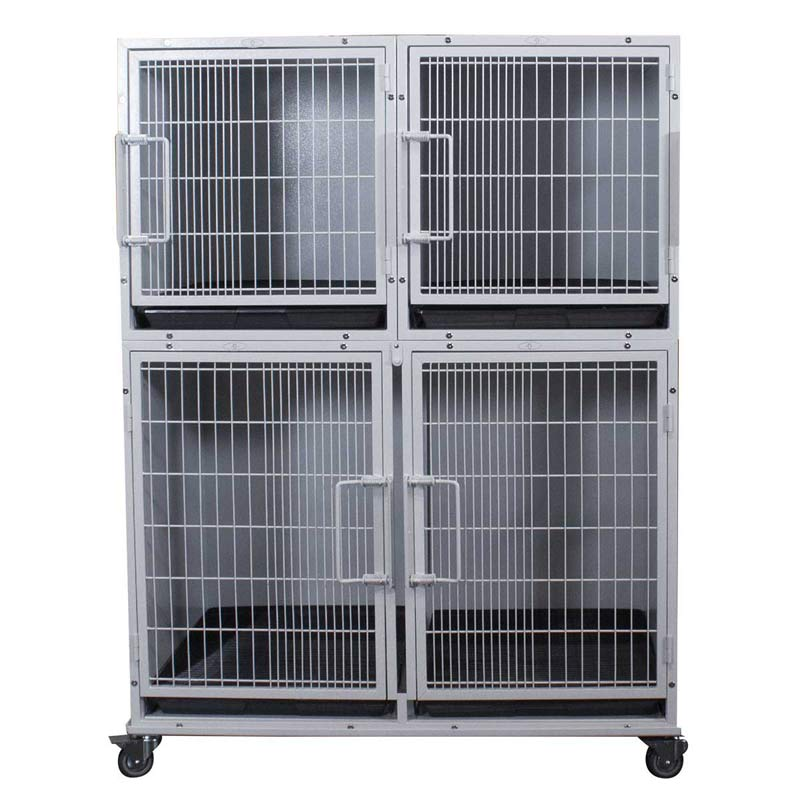 Paw Brothers Professional Half Bank Modular Cage Complete Medium-Short - 2 small and 2 medium