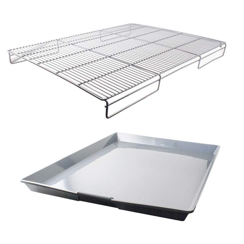 Grate & Pan Set For Large Modular Cages