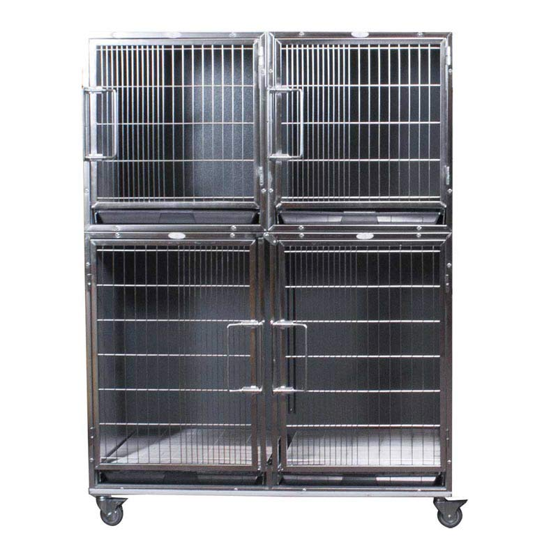 Paw Brothers Professional Complete Modular Cage Half Bank - One Large Cage and 2 Small Ones