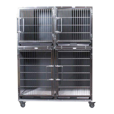 Paw Brothers Professional Complete Modular Cage Half Bank - One Large Cage and 2 Small Ones?resizeid=5&resizeh=400&resizew=400