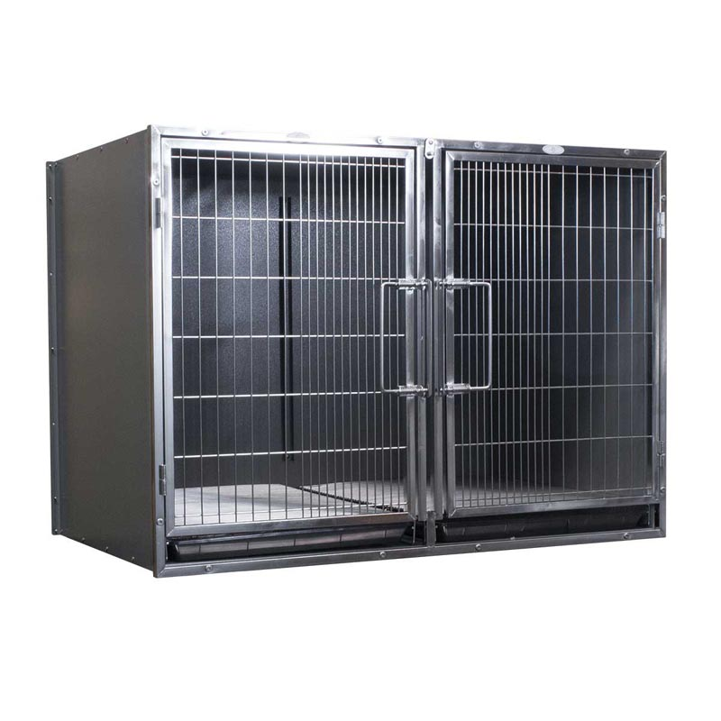Large Paw Brothers Professional Stainless Steel Modular Cage for Grooming and Vets