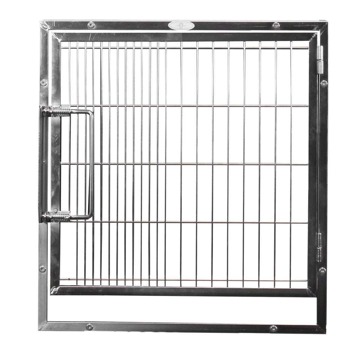 Medium-Short Stainless Steel Door Assembly For Modular Cages