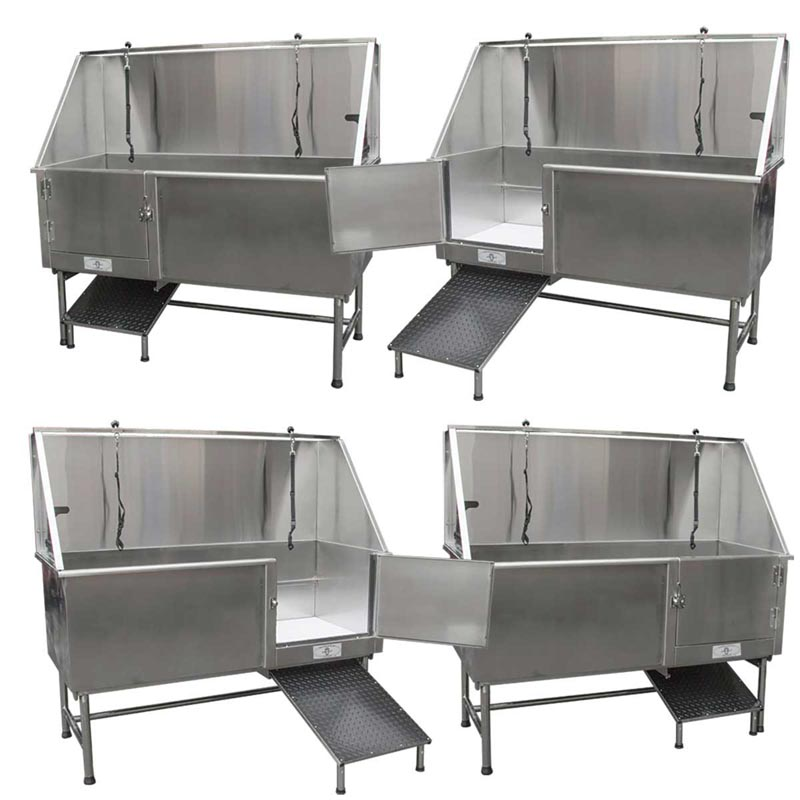 Paw Brothers Professional Stainless Steel 60 inch Tub Right and Left Version