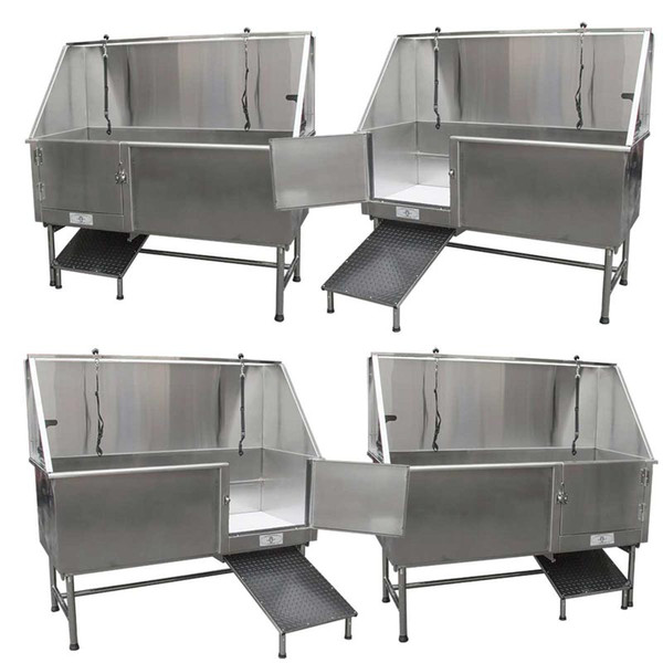 Paw Brothers Professional Stainless Steel 60 inch Dog Grooming Tub Right and Left Version