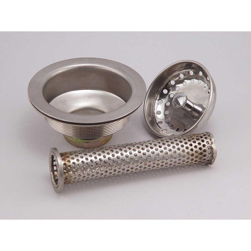 Professional Pet Grooming Tub Drain Strainer with Inline Hair Basket Disassembled