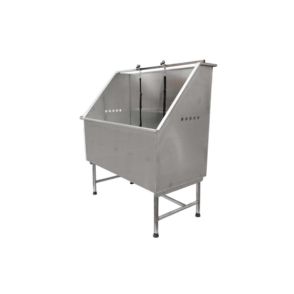 Side of Paw Brothers Stainless Steel Solid Basin Grooming Tub