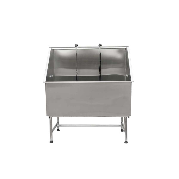 Front of Paw Brothers Stainless Steel Solid Basin Grooming Tub