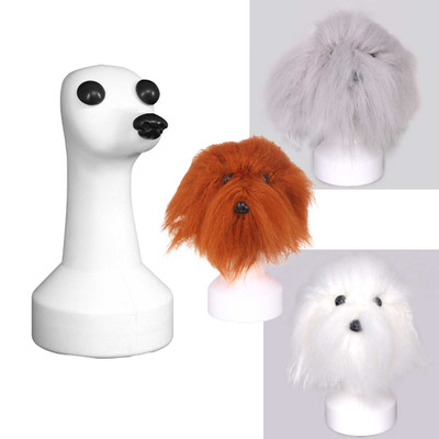 Groomers Teddy Head Set Kit with White, Grey and Brown Hair