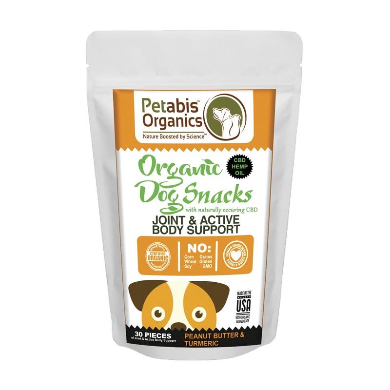 Petabis Organics Daily Calming Snackers Standard 1.5 mg 15 Count CBD Dog Treats